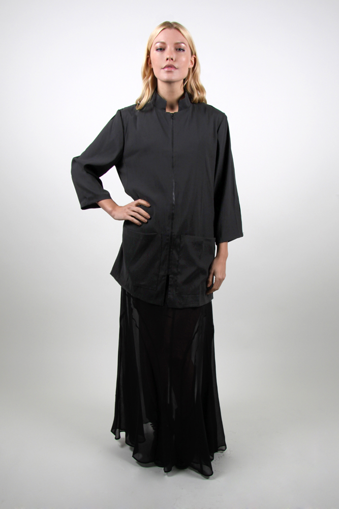 Style #88 Zip Front Smock with Mandarin Collar