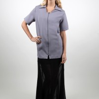 Style #1270 Zip Front Smock with Collar