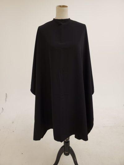 Black peachskin cape