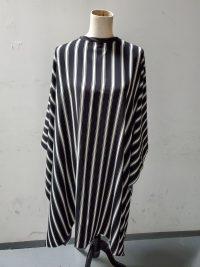 Black and white stripe cape